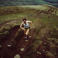 Andy Harmer at Lose Hill, Edale Skyline March 1991