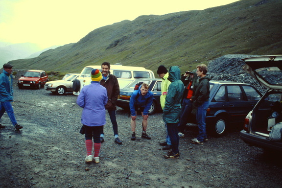 At Honister, incl Roger Baumeister, Alan Yates, Paul Sanderson, BG June 1991