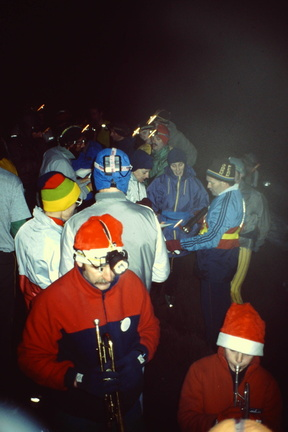 At the Headstone, Xmas Run 1990