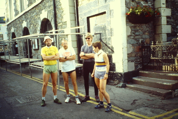 BG contenders Kev Borman, Roy Small, Andy Sheehan, Maggie Gallagher, Moot Hall Keswick June 1992